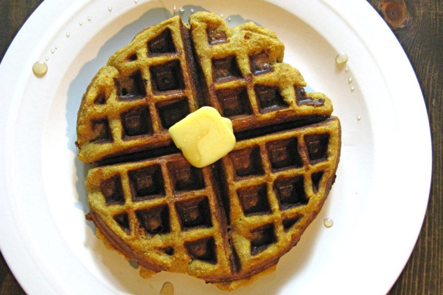 Pumpkin Waffles with Coconut Flour
