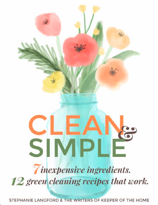 Clean and Simple ebook. 7 Inexpensive ingredients, 12 Green cleaning recipes that work